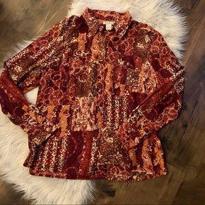 Lucky Brand Beautiful 💯 silk blouse